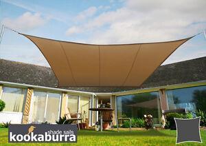 Kookaburra 5 4m Square Mocha Waterproof Woven Shade Sail