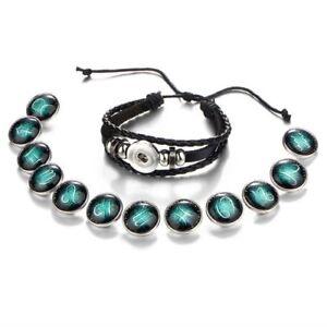 Damen-Herren-Surferarmband-Sternzeichen-Gruen-Geschenk-Bracelet-Horoskop-Chunk