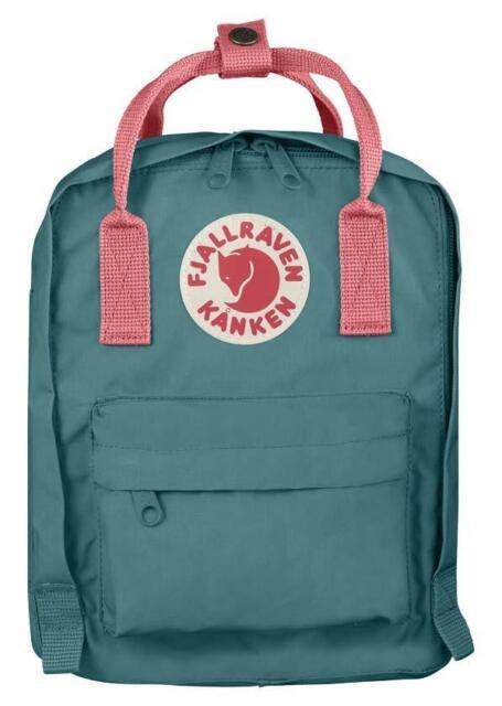 Fjallraven Backpack Kids Kanken Classic F23551 Frost Green Peach