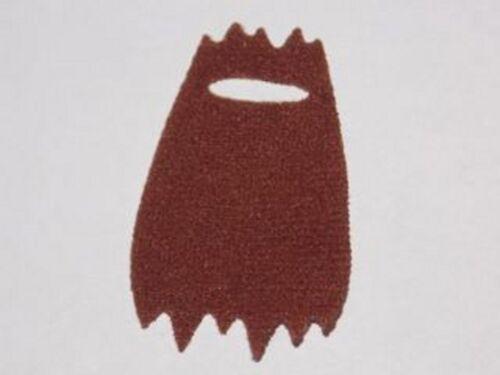 Fur Effect Reddish Brown Tattered Cape Cloth LEGO Minifig