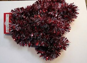 15 Ft Red Silver Foil Tinsel Garland Valentines Day Christmas Tree
