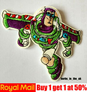 Toy Story Kids Cartoon Patches Badges Woody Buzz Light year Iron On Sew On