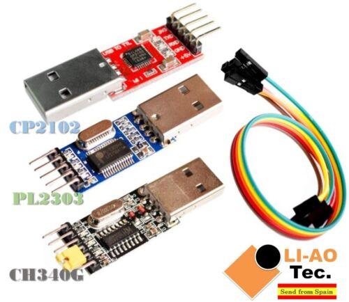 3pcs USB to TTL Module 1pc PL2303 1pc CH340 USB UART Module 1pc CP2102