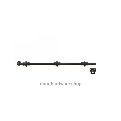 Deltana 24SBU10B Oil Rubbed Bronze 24 inch Surface Bolt Door Bolt strike Brass