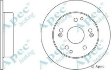 Single 1x OE Quality Replacement Rear Axle Apec Solid Brake Disc 5 Stud 260mm