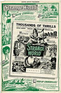 "ORIGINAL • ""STRANGE WORLD"" • 1950 • United Artists  • Complete • RARE"