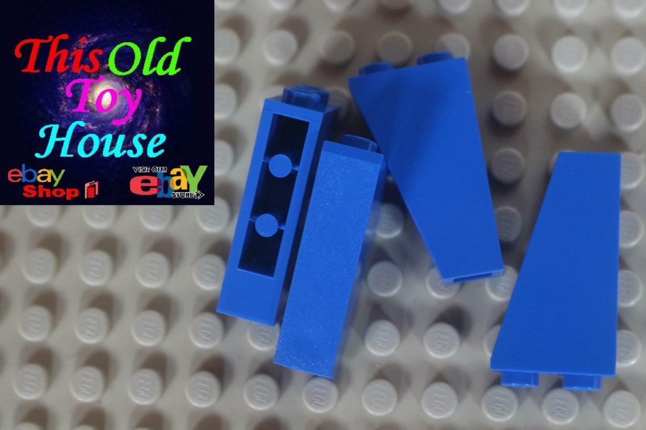 4x Lego Brick Building parts roof tile corner 1x2x3 Dark bluish grey 4460