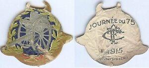 Insigne-de-journees-1914-1918-Journee-du-75-touring-club-de-France-1915-carton