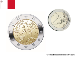 2-Euros-Commemorative-Malte-2020-Jeux-Games-UNC