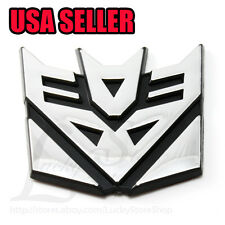 "Small 2.5"" 3D Decal Car Autobot Plastic Sticker Transformers DECEPTICON Badge on"