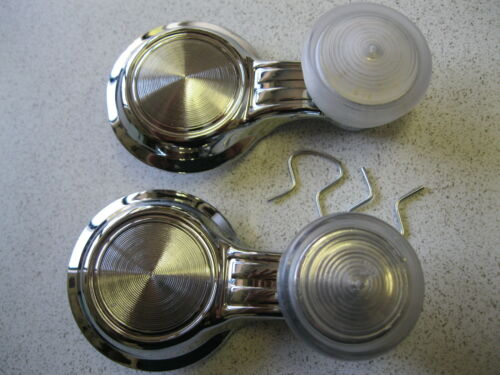 1968 69 70 71 72 El Camino new pair of vent window cranks handles clear knobs