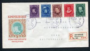 FDC E24 - E 24, Kinderzegels, getypt adres, R-strook