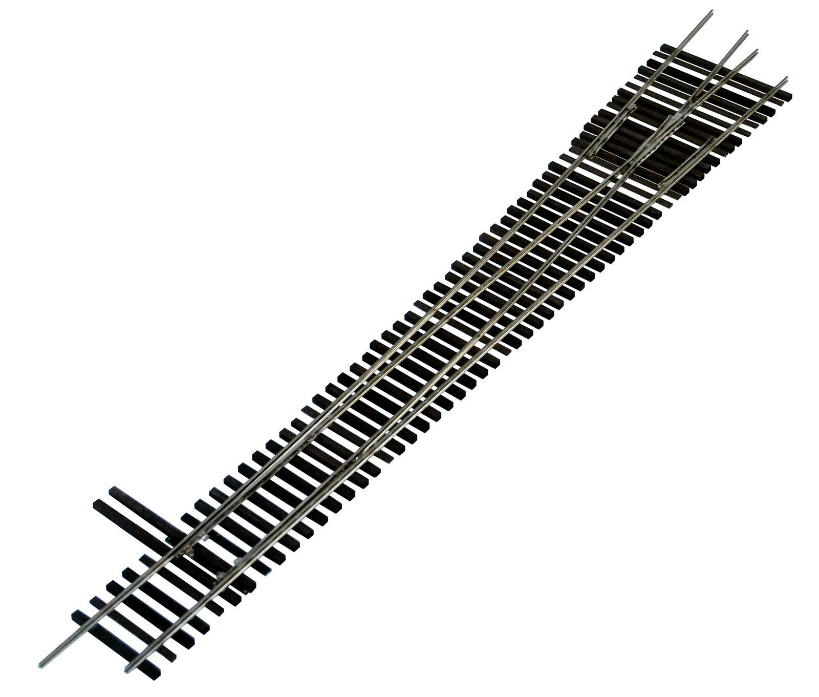 Oscale Turnouts, Inc. Left Hand Turnout, 2-Rail, Code 148,  Mounted on Ties