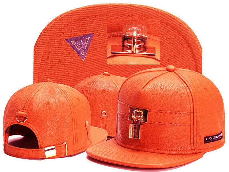 2017 NEW Fashion Men's bboy Hip Hop Hop Hop adjustable Baseball Snapback Hat cap Orange fa99b6