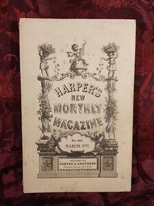 HARPER's March 1877 EDWARD EVERETT HALE FRENCH ART CHARLES READE HERBERT TUTTLE