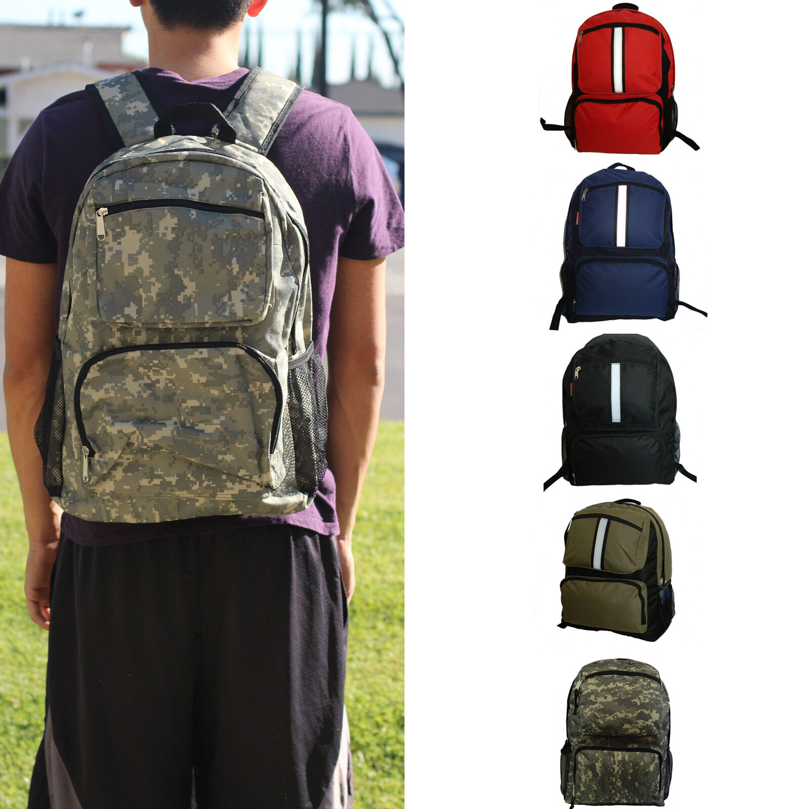 66a5c57dea Details about Kids Teens Backpack Student Book 18