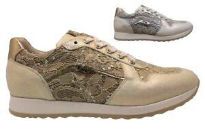 Nero-Giardini-J-P830001F-Argento-e-Oro-Sneakers-Bambina-dal-30-al-39