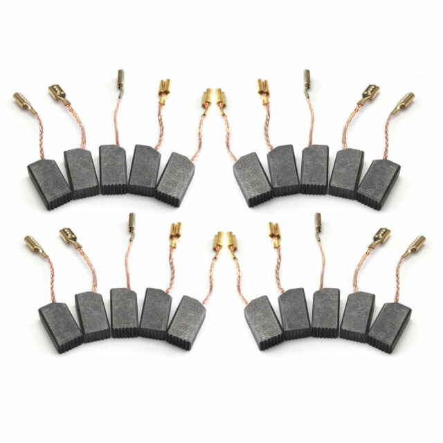 20 Pcs Electric Motor Carbon Brushes for Grinder 14mm x 8mm x 6mm