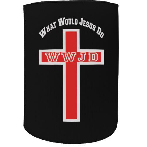 Stubby Support-WWJD What Would Jesus Do Cross-Drôle Nouveauté Cadeau D/'Anniversaire
