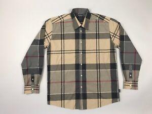 Barbour-Men-039-s-Tartan-Dress-Check-Shirt-Premium-Genuine-L-XL-Casual-rare