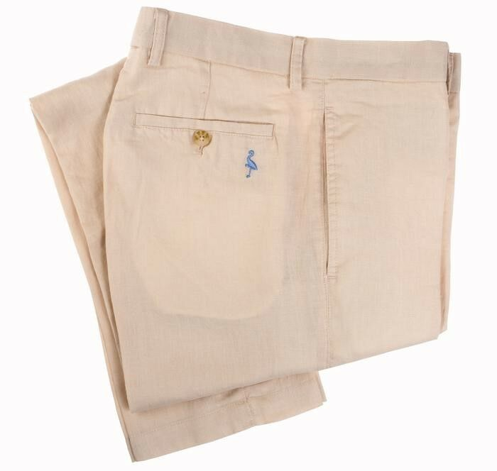 TailorByrd Collection Linen Pants Khaki Mens Size 32x32 New