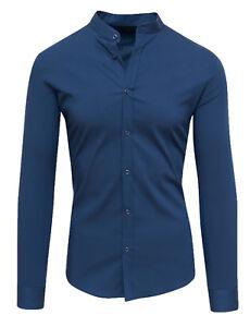 Camicia-uomo-Diamond-coreana-slim-fit-casual-in-cotone-blu-nero-tag-S-M-L-XL-XXL