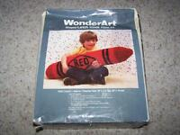 Giant Red Crayon Shaped Pillow Latch Hook Kit 36 X 5 Wonderart