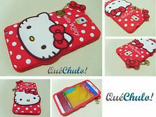 FUNDA CARCASA SILICONA PARA SAMSUNG GALAXY NOTE 3 N9000 HELLO KITTY ROJA+FILM