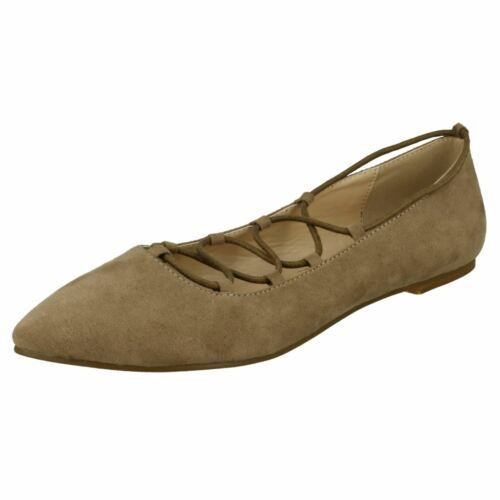 Spot On Ladies Lace Up Flats