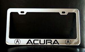 """ACURA"" License Plate Frame, Custom Made of Chrome Plated Metal   eBay"