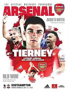 Arsenal-v-Southampton-Official-Matchday-Programme-2019-20-Free-UK-Delivery