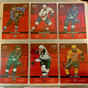 2019-20-Upper-Deck-Tim-Hortons-RED-DIE-CUT-BASE-PARALLEL-Card-U-Pick