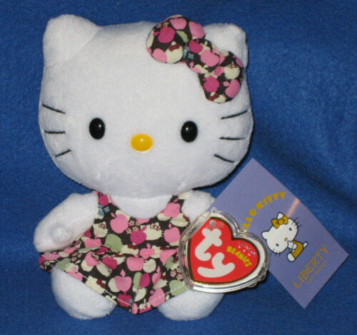 TY HELLO KITTY LIBERTY BEANIE BABY UK EXCLUSIVE NEW MINT with MINT TAG