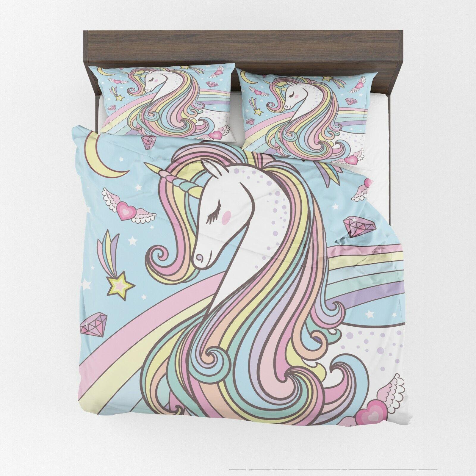 Unicorn Comforter or Duvet Cover kids bedding girly bedding girls comforter kid