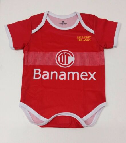 Deportivo Toluca Baby Outfit Jumpsuit Mameluco New Red Color Made In Mexico