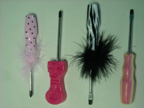 BNIB Chick Screw Driver Kit Pink Fluffy Practical Gift BUY 4 get EXTRA 1 FREE