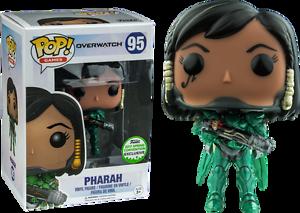 Funko Pop Pharah Overwatch 2017 emerald Comic Con  Exclusive