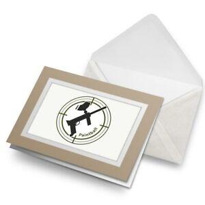 Greetings-Card-Biege-Paintball-Gun-Sign-Symbol-4760