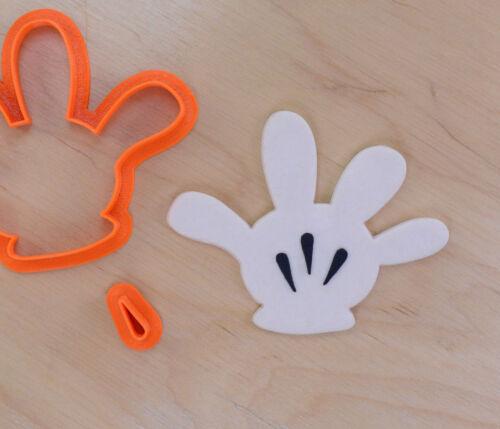 3d Imprimé Plastique Mickey Mouse Main Fondant Cutter Set