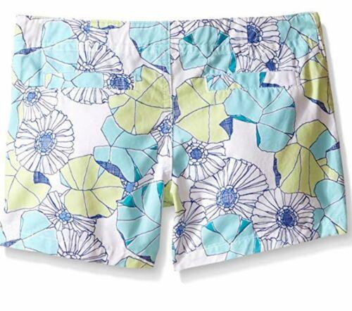 Gymboree Little Girls/' Flower Print Short 6 White