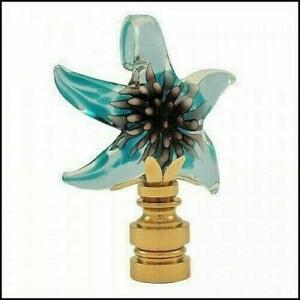Starfish Art Glass Electric Lighting Lamp Shade Finial Ebay