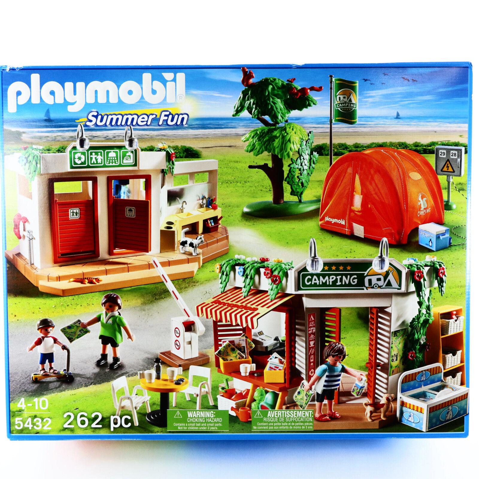 Spela bilen Camp Site Summer Fun 5432 Enorm spelagset Camping Leksaker Ålder 4 5 6 7 8