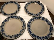 4 Salmon Falls Stoneware Pottery, Blueberry Vine pattern Tableware plates 10.5''