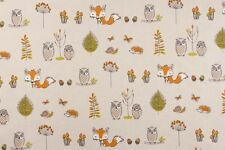 Fryett's Woodland Fox Multi Fabric Remnant 100% Cotton 50cm x 40cm