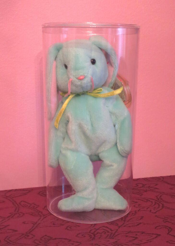 Original - ty beanie baby mint Grün 1996 hippity - bunny fall tag beschützer fehler