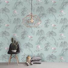 Flamingo Lago Wallpaper-Huevo De Pato-Holden 12380 Nuevo