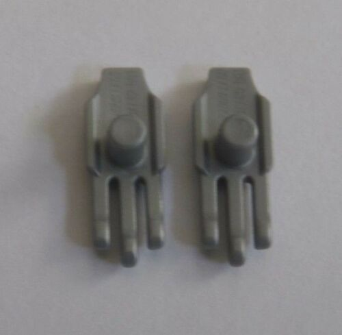 NEW Lego Flat Silver CLAW HANDS Fits Minifig Weapons Lot//2