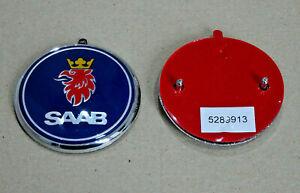 Saab-95-9-5-Saloon-1998-2005-Trasero-arrancar-tronco-insignia-emblema-5289913-Azul-Nuevo