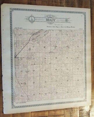 Kalamazoo Michigan/ogle & Co.1910 Purposeful Antique Map-brady Township