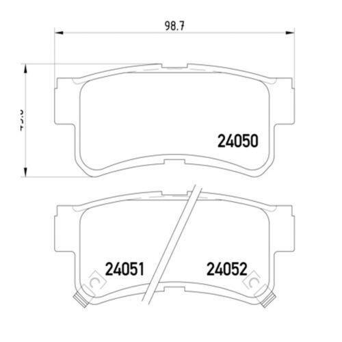 PADS SET x1 FOR HYUNDAI SANTA FE 2.0 TD 2.4i 2.7i 01-05 REAR BRAKE PAD